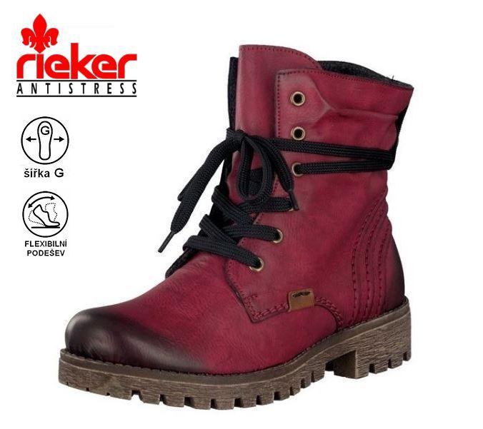 43c6ebbfd327 20563 Dámská poloholeňová obuv Rieker 78550-35